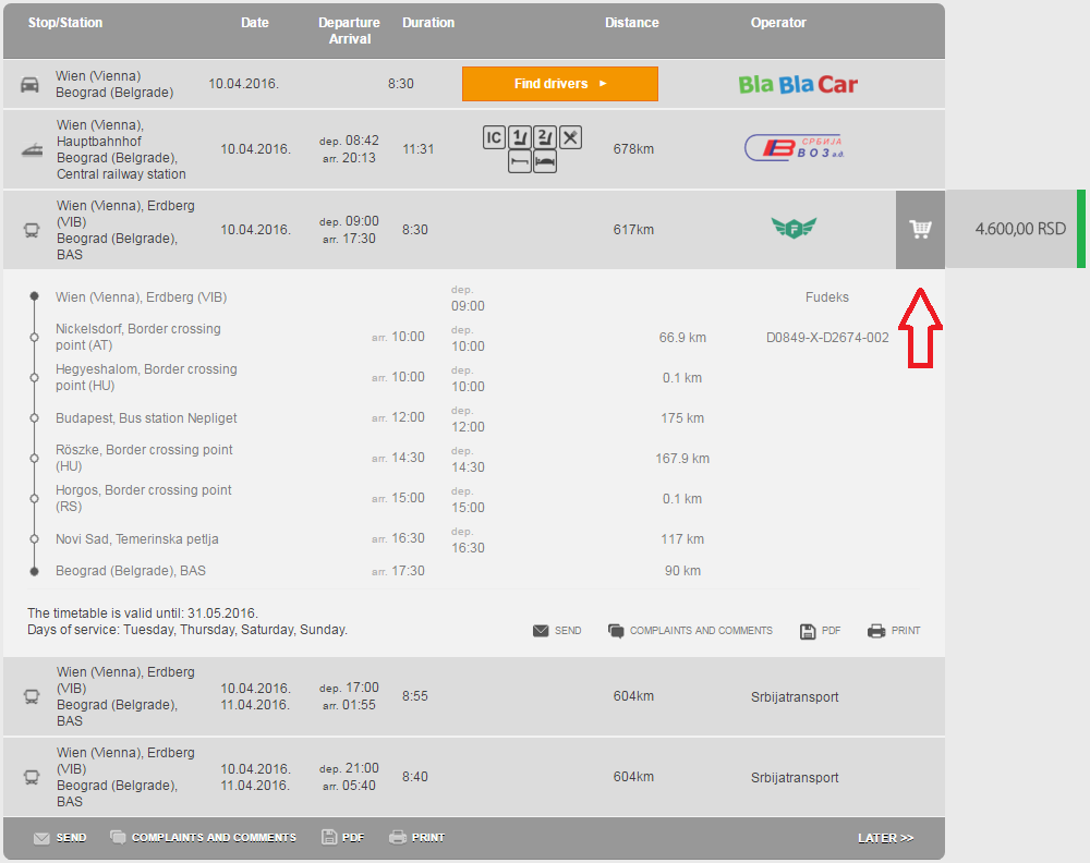 Instructions for booking bus tickets online | Polazak